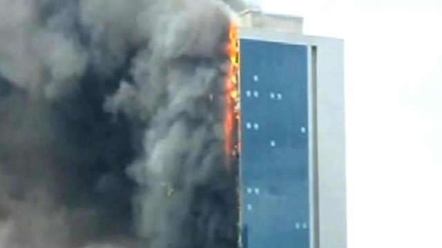 Polat Tower alight