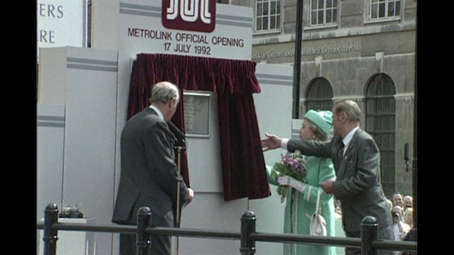 Manchester Metrolink opening by the Queen
