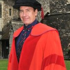 Jools Holland at his degree ceremony at Rochester Cathedral