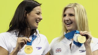 Keri-Anne Payne and Rebecca Adlington