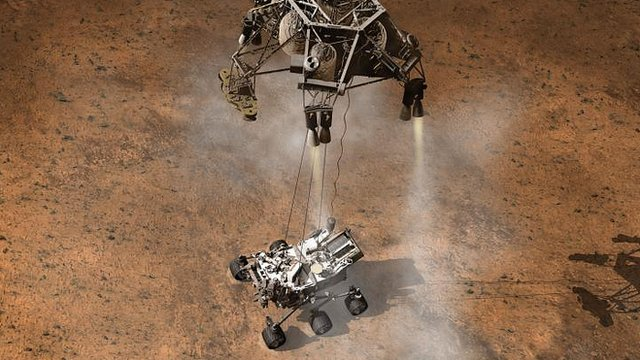 mars curiosity rover landing animation - photo #24