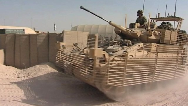 Light Dragoons tank in Afghanistan