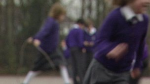 School children in playground
