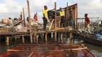 A demolished house in the Makoko waterfront settlement in Lagos, Nigeria