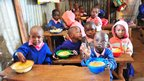 The school receives free school meals from the World Food Programme