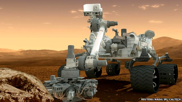 Artist's impression of Mars Curiosity rover
