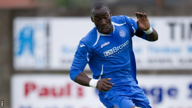 Gregory Tade in action for St Johnstone in pre-season
