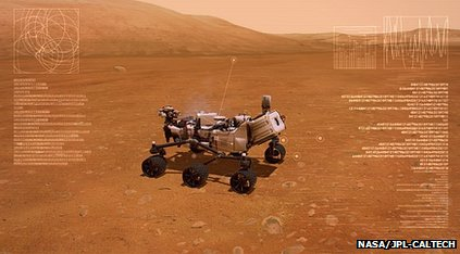 screenshot of mars rover Xbox game