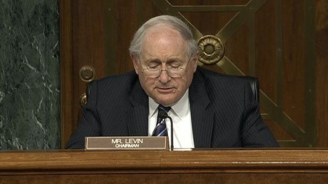 Senator Carl Levin speaking in Congress