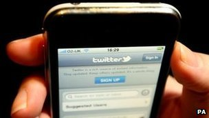 Twitter on smart phone