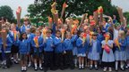 Pupils at Rufforth School