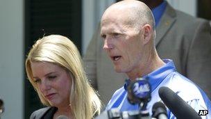 Florida Attorney General Pam Bondi and Florida Governor Rick Scott
