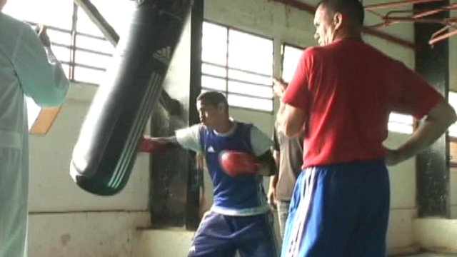 Cuban boxer