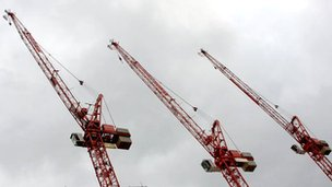 Cranes at a construction site