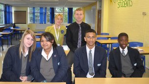 The debating team at Bedford!