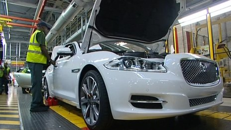 Jaguar production line