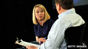 Marissa Mayer in 2011 at TechCrunch