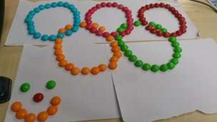 Sweet Olympic rings
