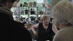 Sue Blazye, who has a collection of more than 6,000 teapots on Teapot Island, Yalding, Kent