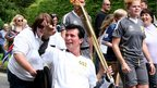 Eddie Kidd with torch