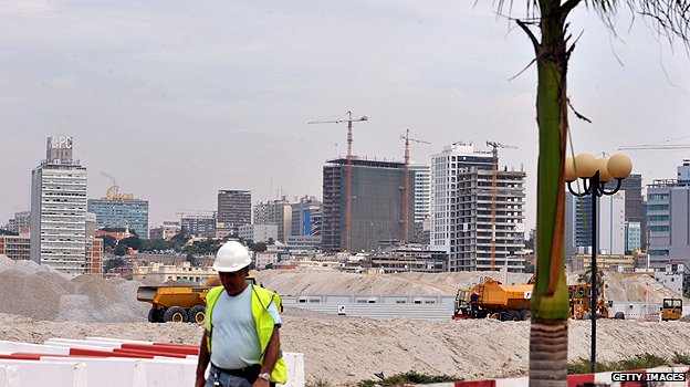 Construction site in Luanda