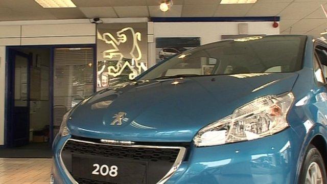A Peugeot car