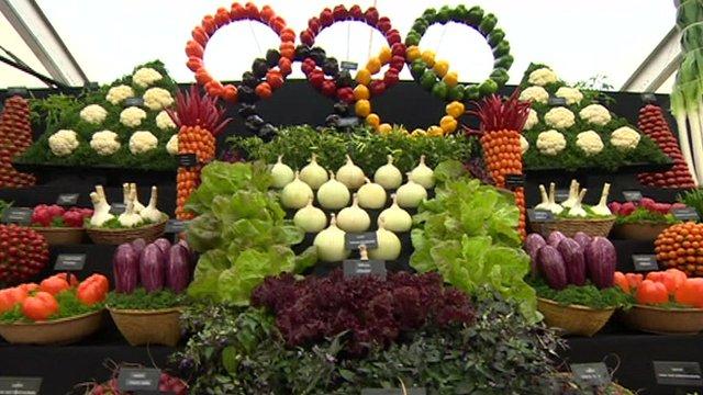 RHS Flower Show Tatton Park vegetable display