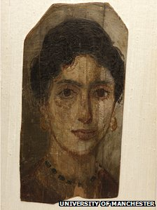 Portrait panel of mummy