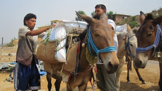 Getting food to school in remote areas of Nepal is a challenge