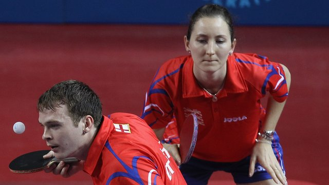 Team GB's Paul Drinkhall and Joanna Parker