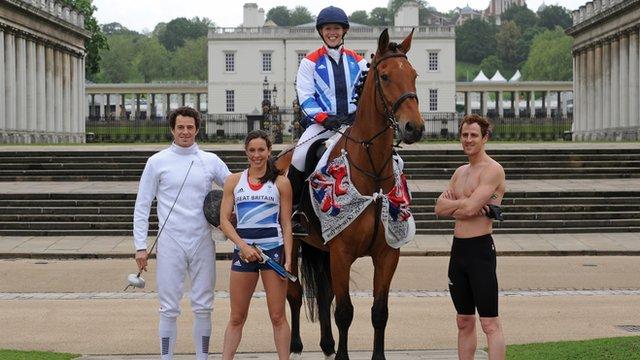 Team GB's modern pentathletes