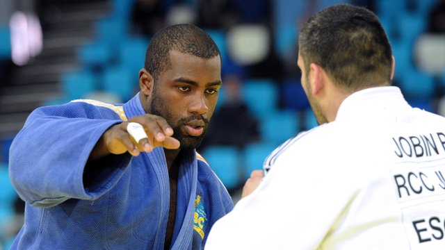 France&#039;s Teddy Riner in action