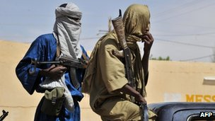 Rebels in northern Mali. Photo: 16 July 2012