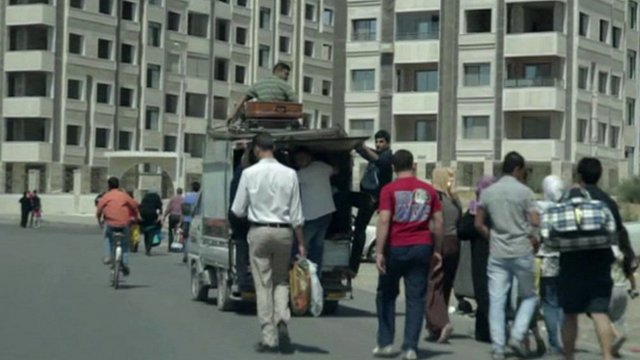 Residents in Damascus