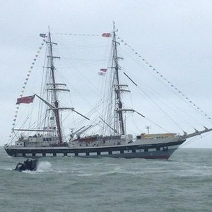 Charlie Elphicke, MP for Dover and Deal, has tweeted this photo of the tall ship that will carry the torch