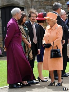 The Queen with the Bishop of Durham
