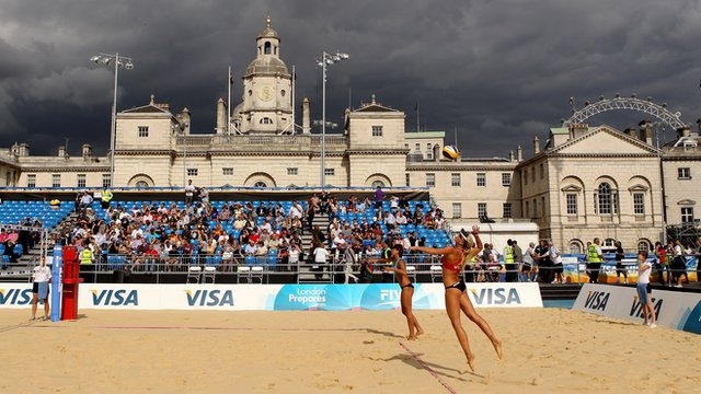 Beach volleyball at Royal Horseguards Parade