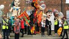 A carnival of larger-than-life puppets in Hamstreet