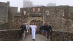 ophie Waller carried the flame through historic Dover Castle, built for King John II in the 12th century
