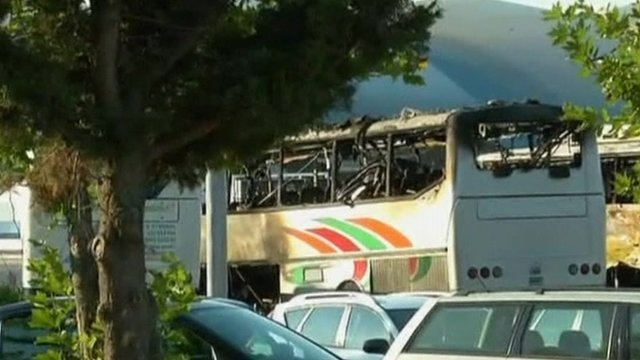 Aftermath of bus blast