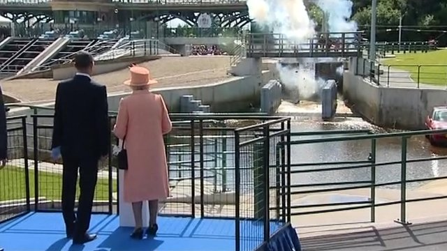 Floodgates explode at Tees Barrage opening ceremony