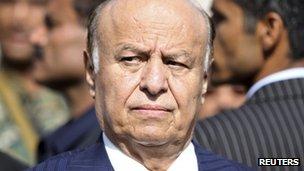 Yemeni President Abdrabuh Mansur Hadi