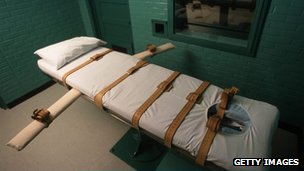 Death chamber in Huntsville, Texas file photo