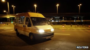 Ambulance arrives at Burgas airport - 18 July