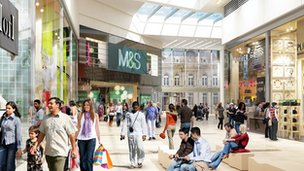 An impression of the development from Westfield