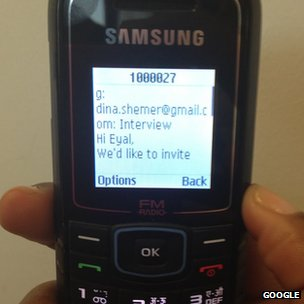 "Gmail SMS demoed on a Samsung ""dumb"" phone"