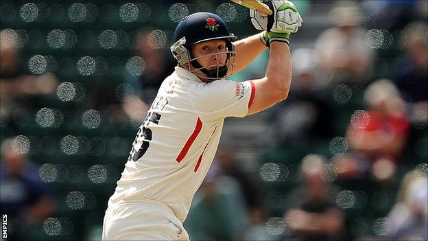Lancashire all-rounder Steven Croft