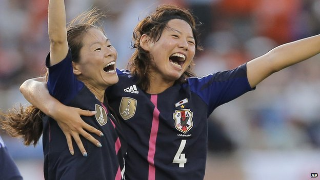Japan's women's football team members