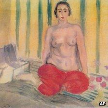 Odalisque a la culotte rouge by Matisse