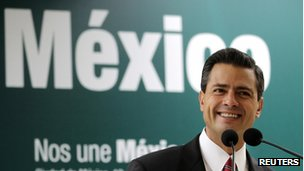 Enrique Pena Nieto  on 18 July 2012